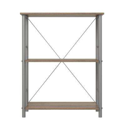 Raleigh Rustic Oak 3-Shelf Bookcase