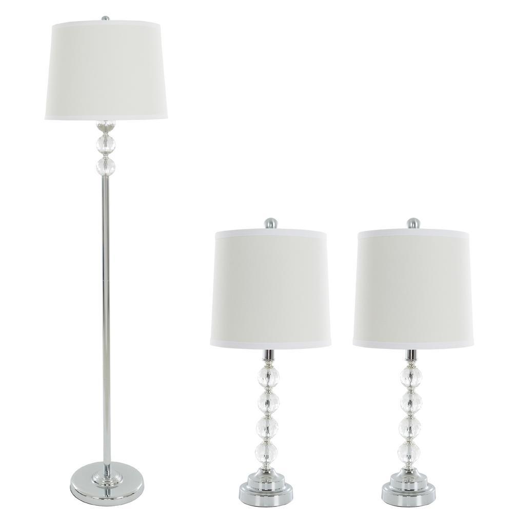 lighting sets. Faceted Crystal Balls Lamp Set (3-Piece) Lighting Sets
