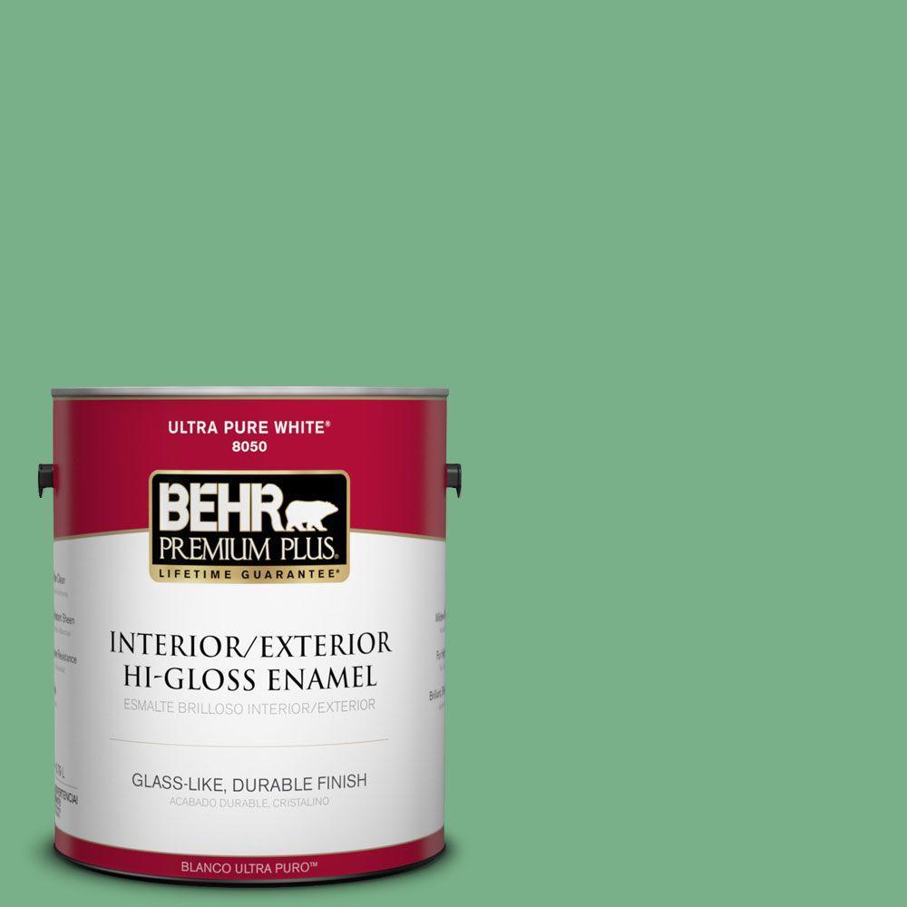 1-gal. #M410-5 Green Bank Hi-Gloss Enamel Interior/Exterior Paint
