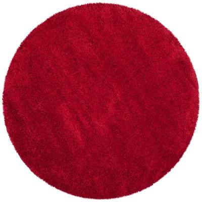 Milan Shag Red 7 ft. x 7 ft. Round Area Rug