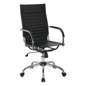 Astounding Trinidad High Back Office Chair With Fixed Padded Arms And Chrome Base And Accents In Black Fabric Ocoug Best Dining Table And Chair Ideas Images Ocougorg