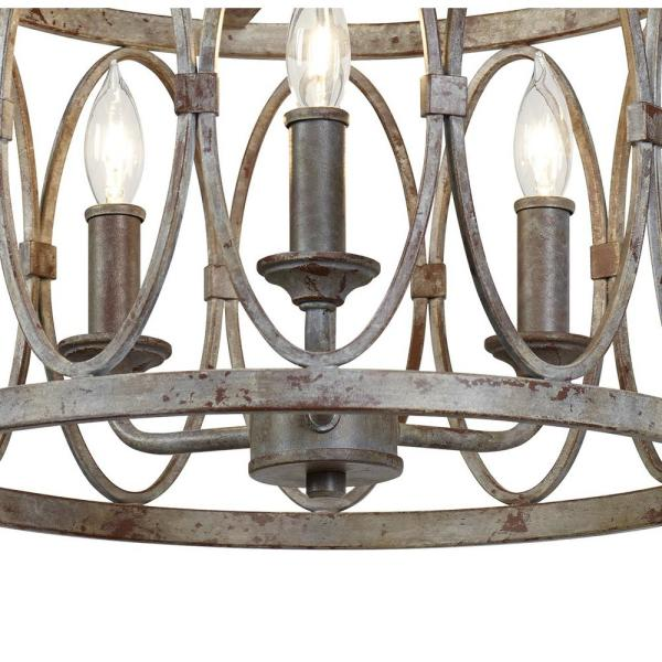 Feiss Patrice 14 In 3 Light Deep Abyss Semi Flush Mount With Open Oval Cage Shade Sf346da The Home Depot