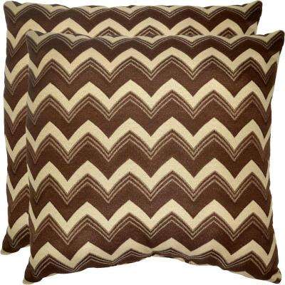 Bark Chevron Outdoor Throw Pillow (2-Pack)