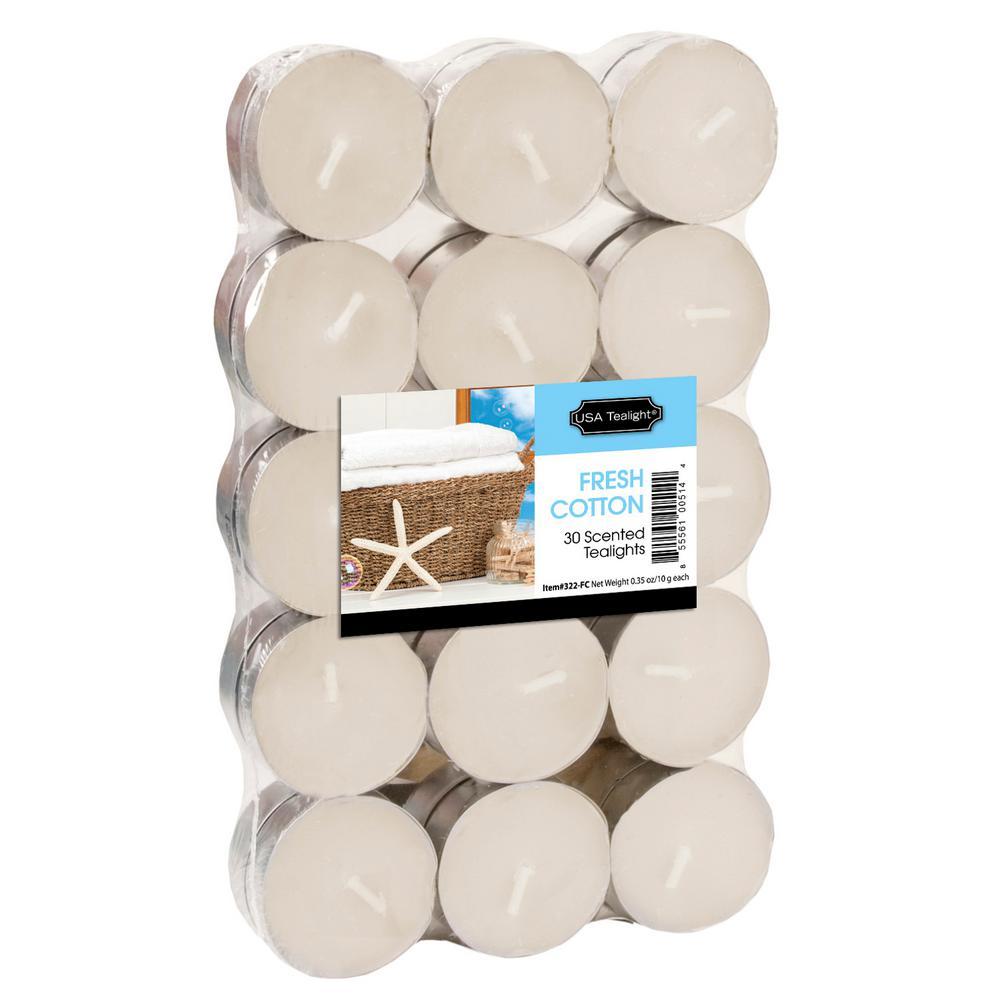 Fresh Cotton Tealight Candles (Set of 60)