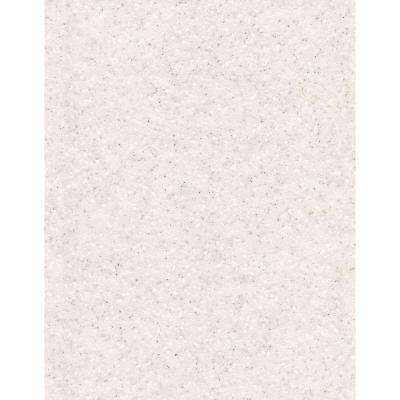 2 in. x 2 in. Solid Surface Countertop Sample in White Quartz