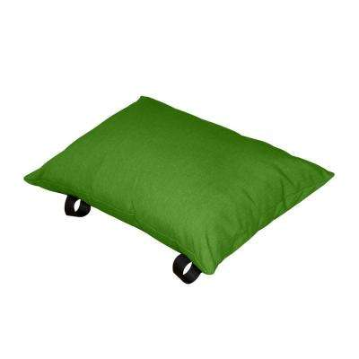Polyester Green Apple Solid Lumbar Outdoor Throw Pillow