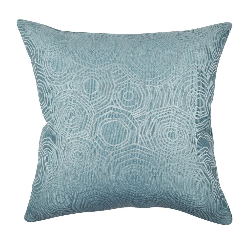 Teal Tiles Matelass Throw Pillow