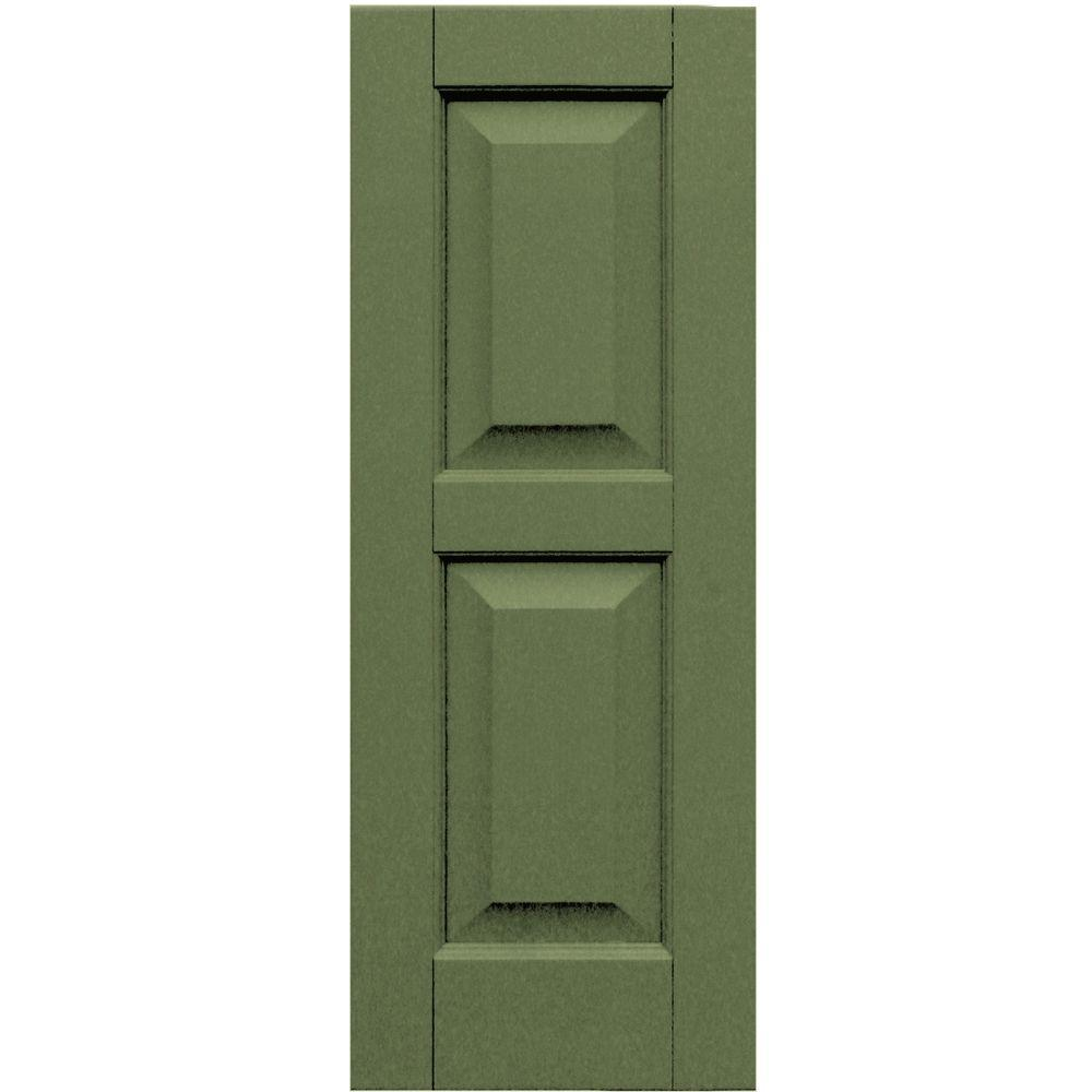 Winworks Wood Composite 12 in. x 32 in. Raised Panel Shutters Pair #660 Weathered Shingle