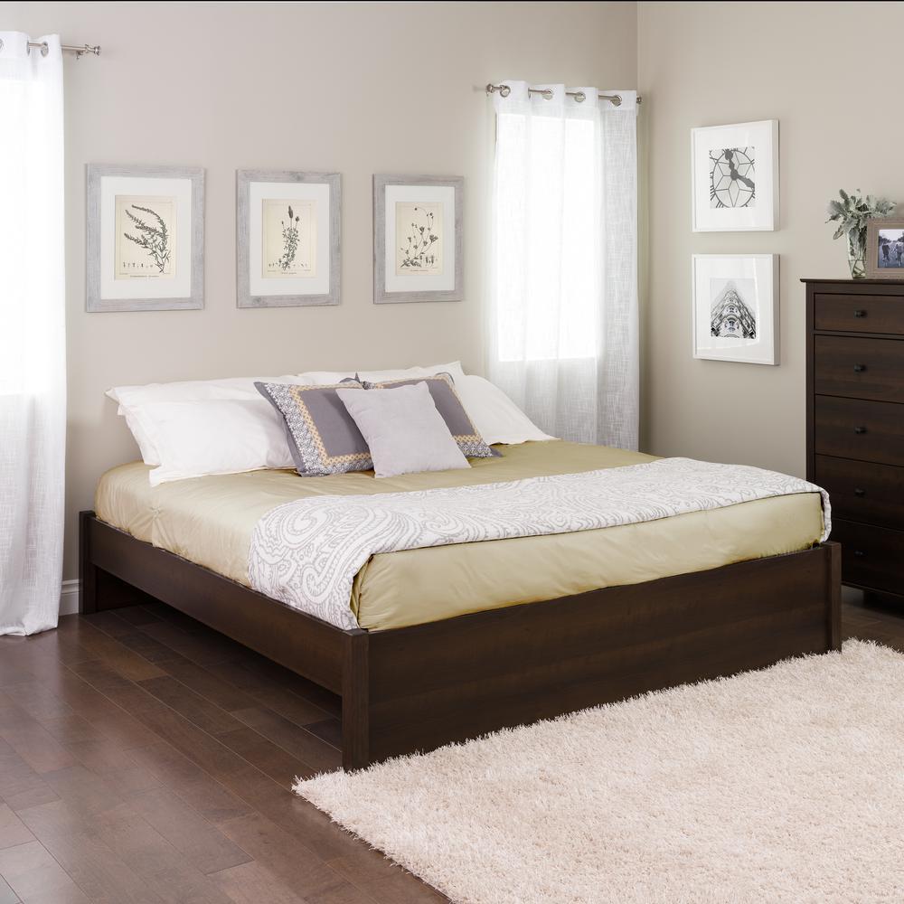 Select Espresso King 4-Post Platform Bed