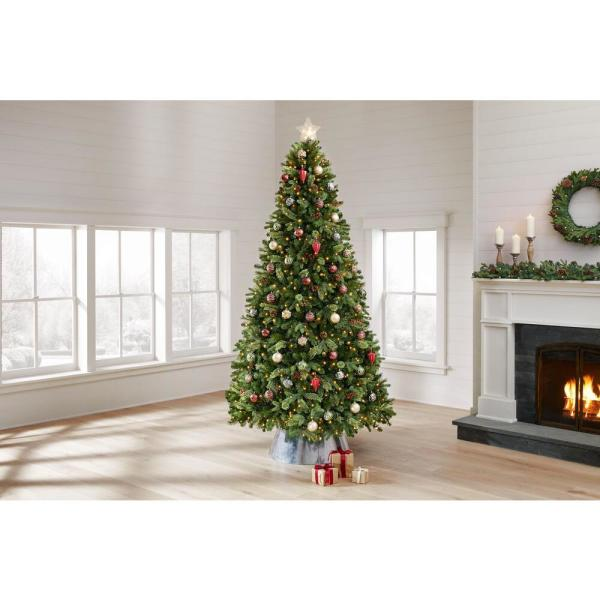 Home Accents Holiday 9 Ft Westwood White Fir Led Pre Lit Tree With 800 Warm White Lights Tg90p4924l04 The Home Depot