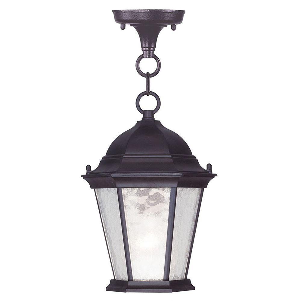 Providence 1-Light Bronze Outdoor Hanging Pendant
