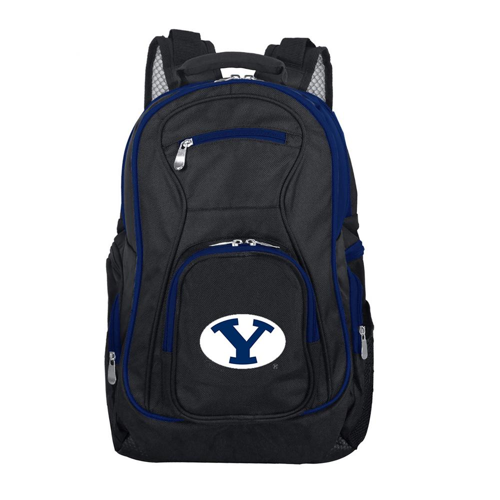 NCAA Brigham Young Cougars 19 in. Black Trim Color Laptop Backpack