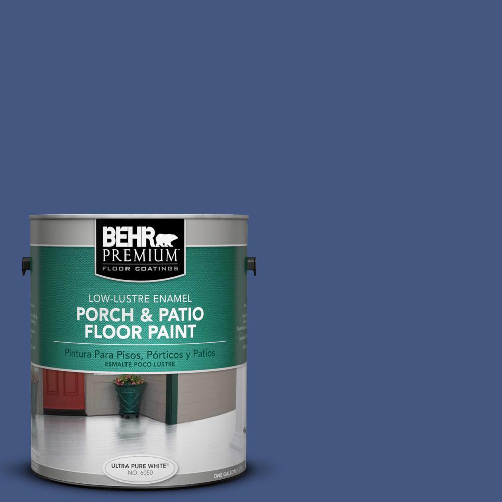 1 gal. #M540-7 Optimum Blue Low-Lustre Interior/Exterior Porch and Patio Floor Paint