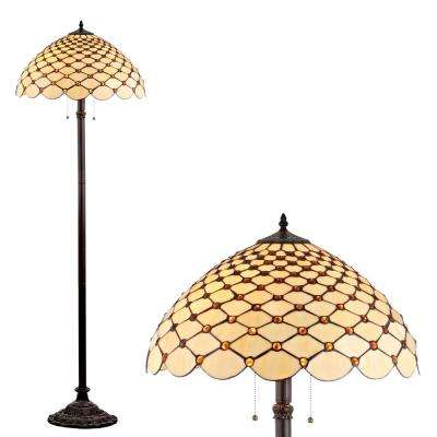 Lee Tiffany-Style 62 in. Bronze Floor Lamp