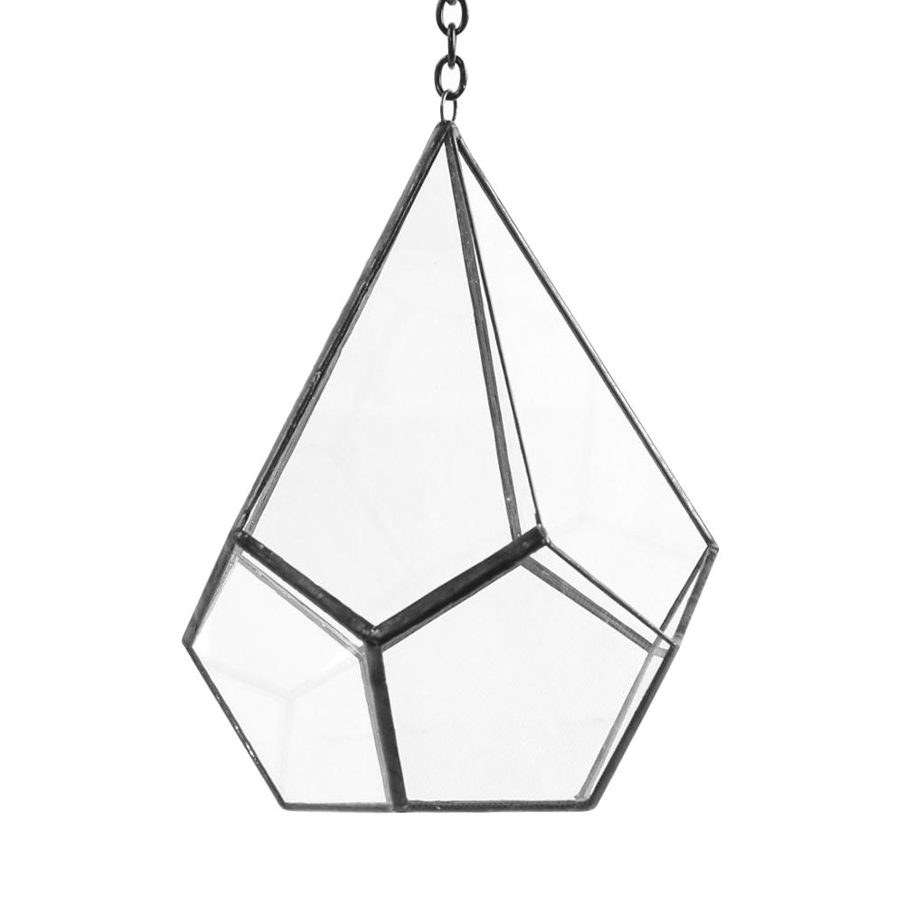 Geometric 5 in. x 8 in. Glass Cone Terrarium