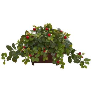 Nearly Natural 8059 Nepthytis Artificial Plant in Stone Planter Green
