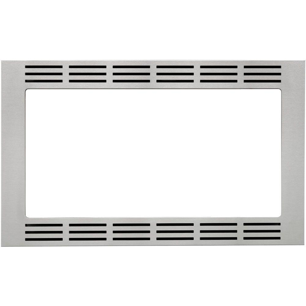 Panasonic 27 in. Wide Trim Kit for 's 1.6 cu. ft. Microwave Ovens in Stainless Steel, Silver Panasonic's NN-TK621SS 27 in. Wide Trim Kit, in stainless steel, is designed for select Panasonic 1.2 cu. ft. microwave ovens. This built-in trim kit allows you to neatly and securely position select Panasonic microwave ovens into a cabinet or wall space in your kitchen. Kit includes all the necessary assembly pieces and hardware to give your Panasonic microwave oven a custom-finished look.