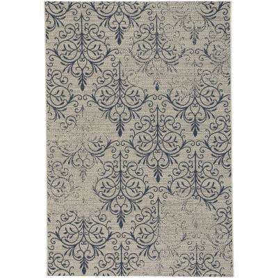 Elsinore-Heirloom Midnight Blue 7 ft. 10 in. x 11 ft. Indoor/Outdoor Area Rug