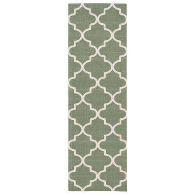 Sun and Shade Moss 2 ft. x 6 ft. Indoor/Outdoor Runner Rug