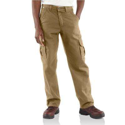 Men's 38 in. x 30 in. Golden Khaki FR Cargo Pant