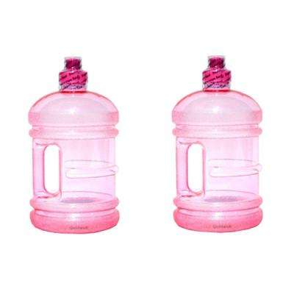 H8O 64 oz. BPA Free Water Jug with Handle in Pink (2-Pack)