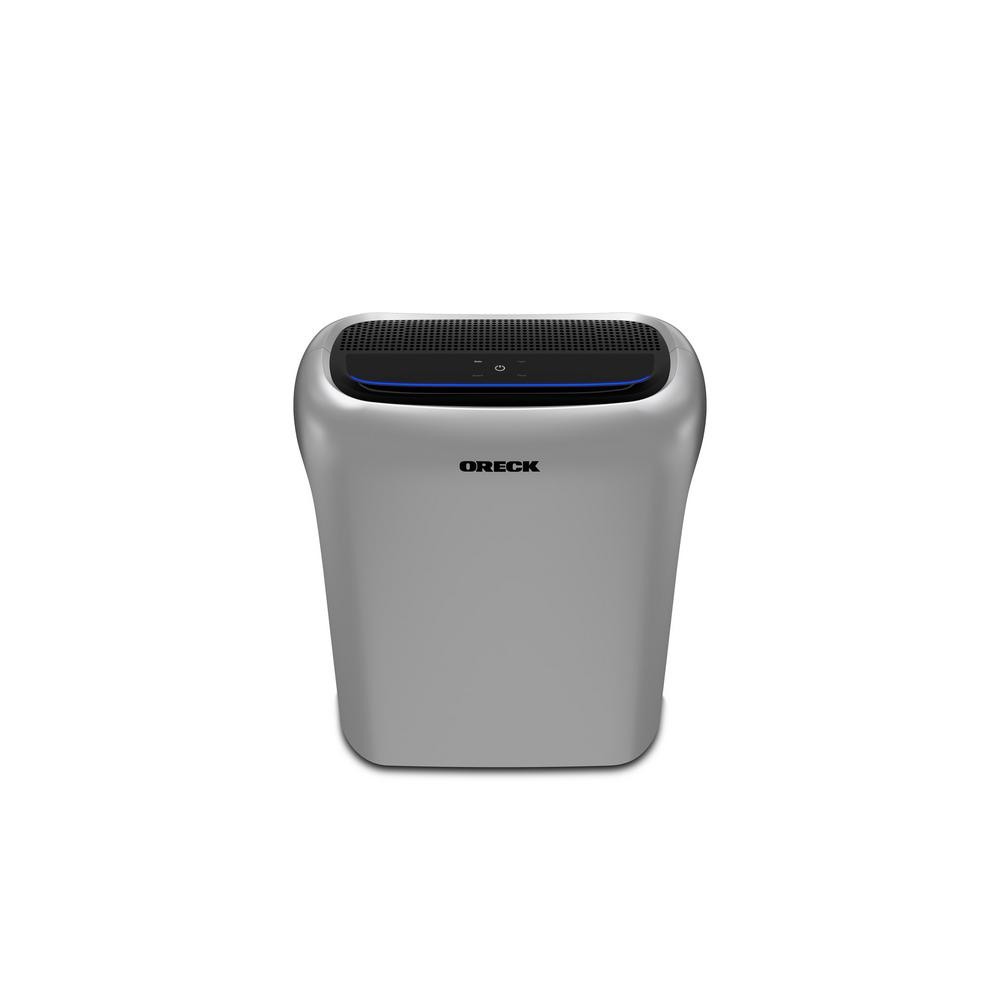 oreck air response hepa air purifier with odor control and. Black Bedroom Furniture Sets. Home Design Ideas