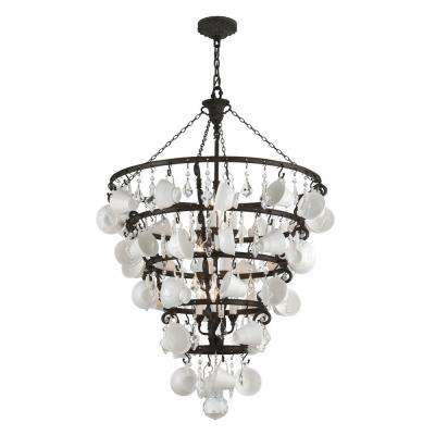 Barista 12-Light Vintage Bronze Chandelier