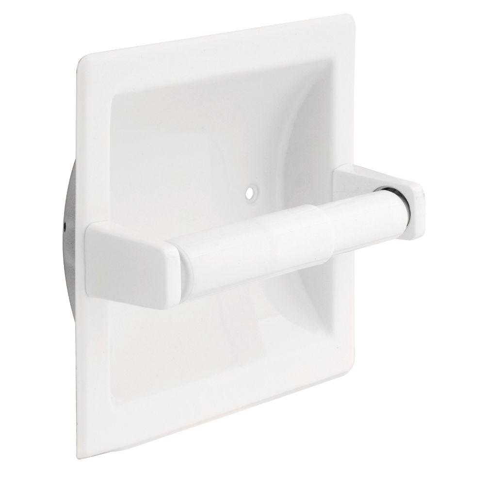 Franklin Br Futura Recessed Toilet Paper Holder In White
