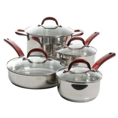 San Basilio 8-Piece Stainless Steel Cookware Set