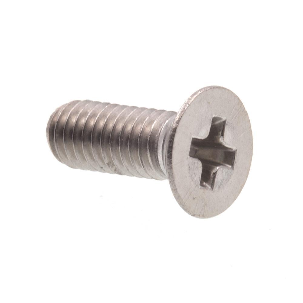 M3-0.5 x 8 mm Grade A2-70 Stainless Steel Metric Phillips Drive Flat Head Machine Screws (10-Pack)