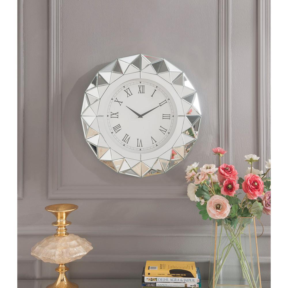 Nyoka Mirrored Wall Clock