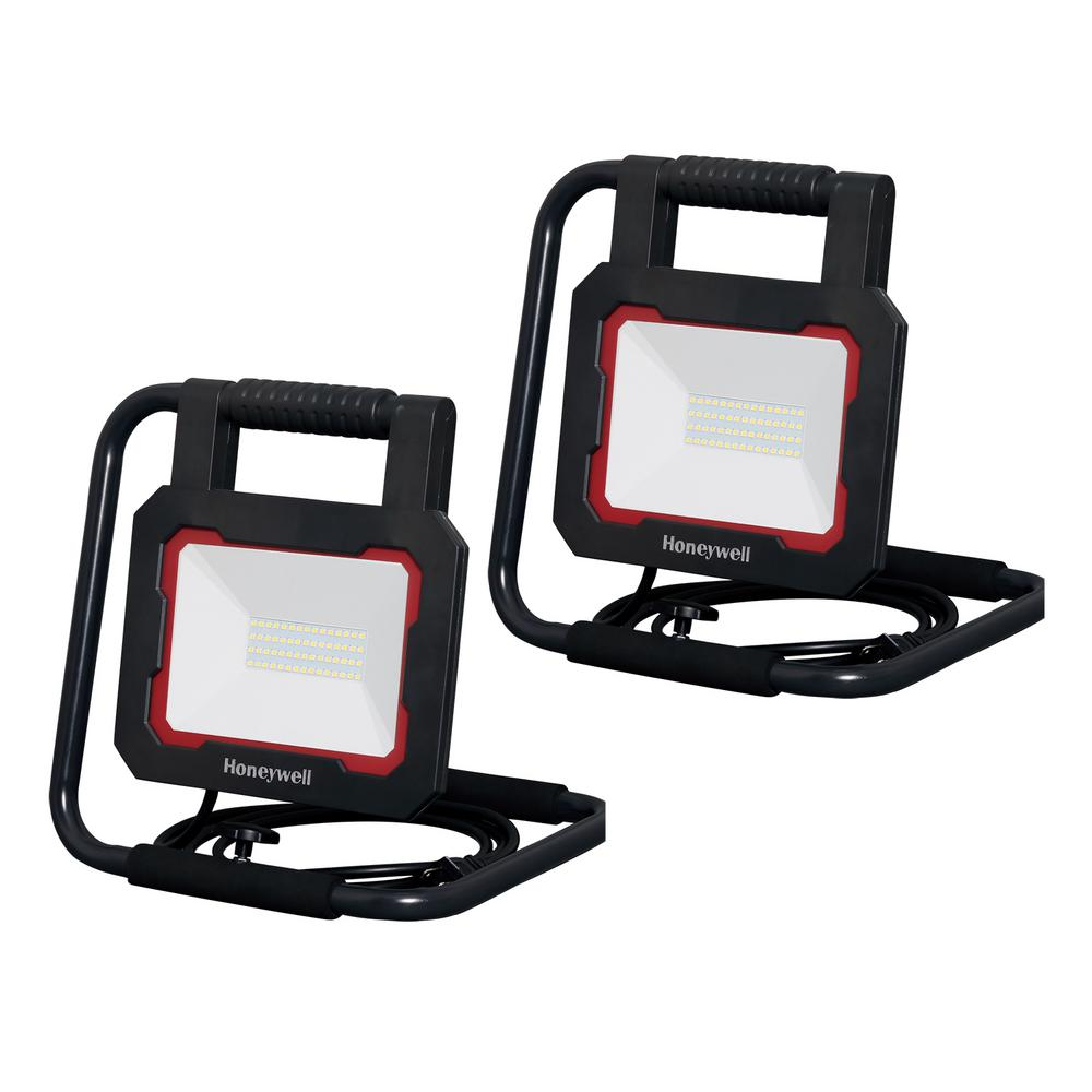 Honeywell Honeywell 3000 Lumen Collapsible Black LED Work Light (2-Pack)