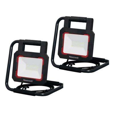3000 Lumen Collapsible Black LED Work Light (2-Pack)