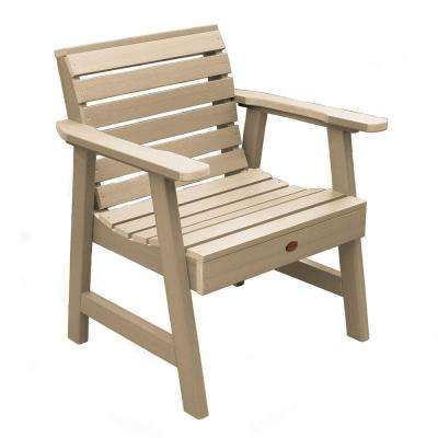 Weatherly Tuscan Taupe Recycled Plastic Outdoor Lounge Chair