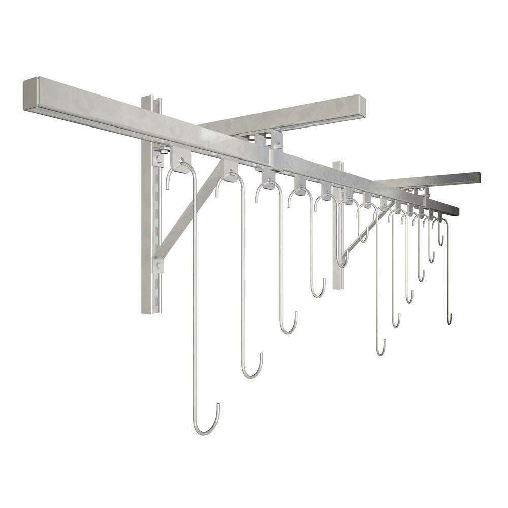 Track Rack Wall Mount 13-Bike Galvanized Bike Rack
