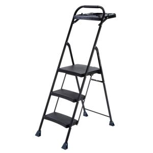 Gorilla Ladders 3-Step Steel Step Stool Pro-Grade Project Ladder with 250 lb.... by Gorilla Ladders