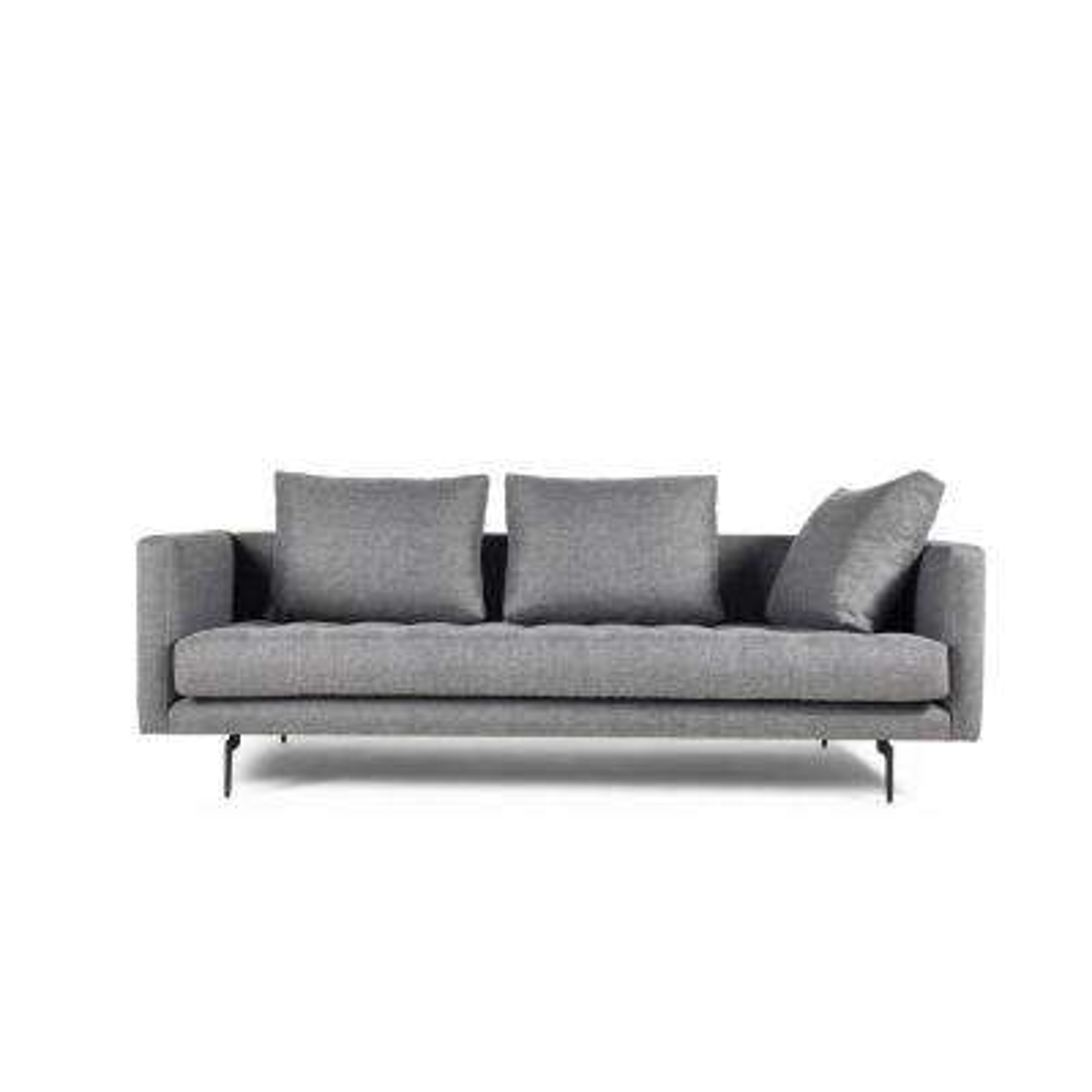 Granville 3-Seat Light Grey Tweed Sofa