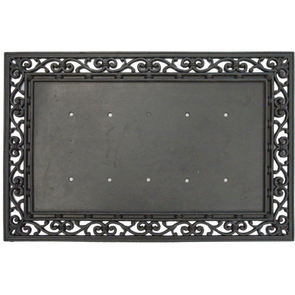 Nice Evergreen Black 36 In. X 24 In. Traditional Rubber Door Mat Base