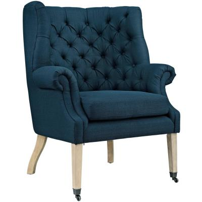 Chart Azure Upholstered Fabric Lounge Chair