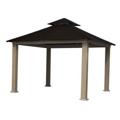 12 ft. x 12 ft. ACACIA Aluminum Gazebo with Black Canopy