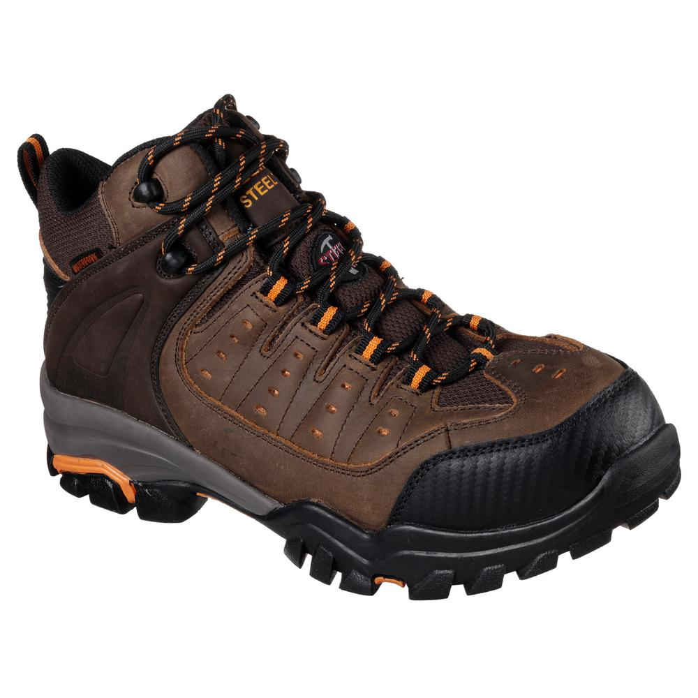 Work Boots - Steel Toe - Brown / Orange