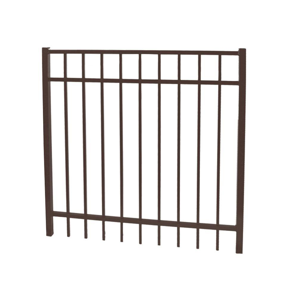 Vinnings 4 ft. W x 5 ft. H Bronze Aluminum Fence
