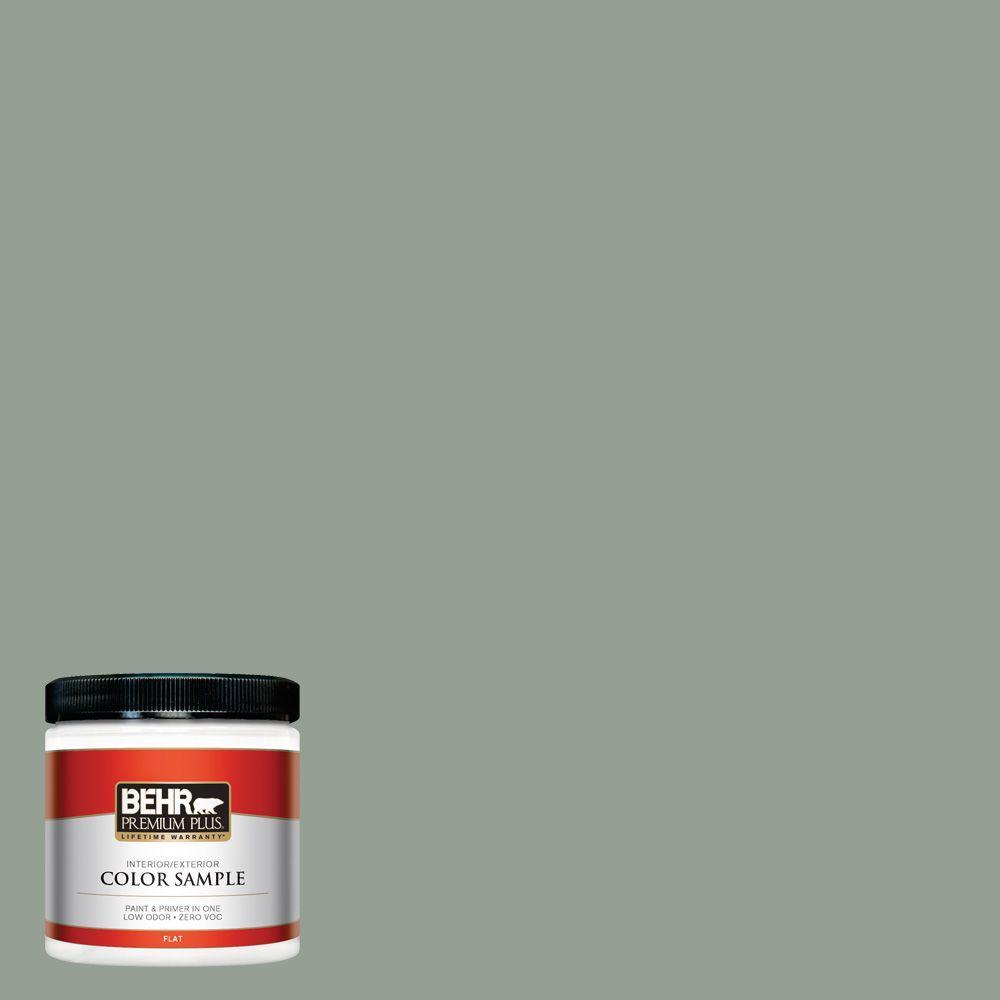 BEHR Premium Plus 8 oz. #N400-4 Forest Path Interior/Exterior Paint Sample