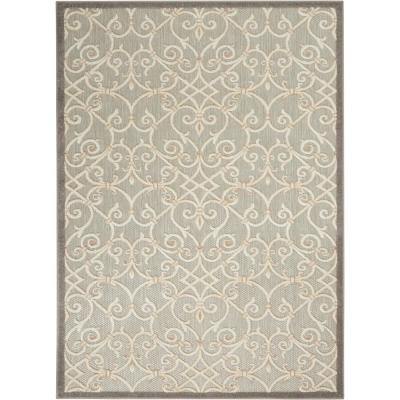 Aloha Patio Natural 3 ft. 6 in. x 5 ft. 6 in. Area Rug