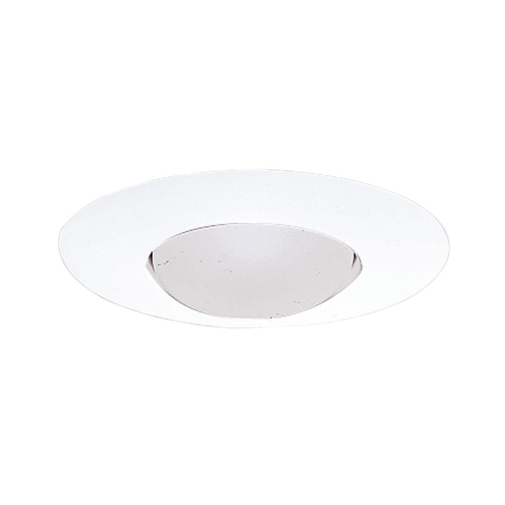 E26 Series 6 in. White Recessed Ceiling Light Open Splay Trim