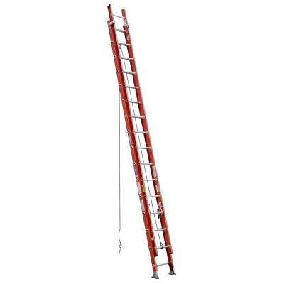 32 ft. Fiberglass Extension Ladder with 300 lb. Load Capacity Type IA Duty Rating