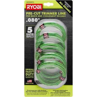 0.080 in. x 16 ft. Pre-Cut Spiral Line (5-Pack)