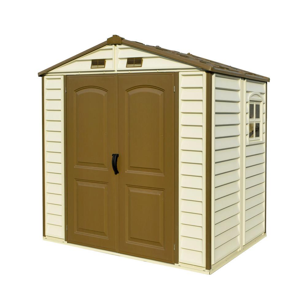 Duramax Building Products Store All 8 ft. x 6 ft. Vinyl Storage Shed