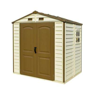 Store All 8 ft. x 6 ft. Vinyl Storage Shed