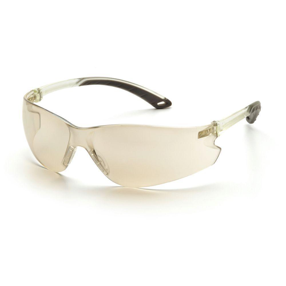 Itek Indoor/Outdoor Mirror Temples Indoor/Outdoor Mirror Lens Safety Glasses-DISCONTINUED